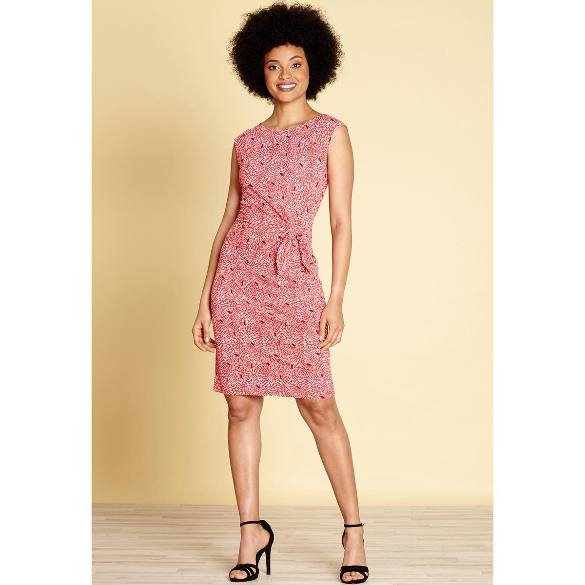 Платье расклешенное средней длины с анималистическим рисунком