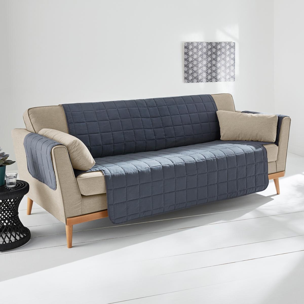 Чехол защитный для кресла или дивана, OnelusЧехол защитный для кресла или дивана, 100% полиэстера. Состав и описание :Материал : 1 сторона обивка розового цвета 100% полиэстера (90 г/м?)/1 сторона 70% хлопка, 30% полиэстера (170 г/м?). Наполнитель 100% полиэстера (100 г/м?).Отделка : квадратная строчка (петля) в 10 см, кант в 1 см в тон.Уход: : Машинная стирка при 60 °CЗнак Oeko-Tex® гарантирует, что товары прошли проверку и были изготовлены без применения вредных для здоровья человека веществ.Наши чехлы для кресел и диванов ищите на нашем сайте laredoute.ru.ruРазмеры : Длина : 200 см.Ширина сиденья 1 место 50см - 2 места 100 см - 3 места 150 см<br><br>Цвет: антрацит,серо-коричневый<br>Размер: 1 места
