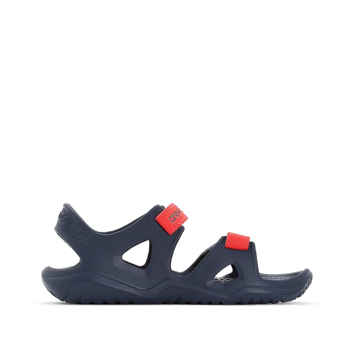 Босоножки Swiftwater River Sandal KОписание:Детали •  Плоский каблук •  Высота каблука : 1,5 см •  Застежка : планка-велкро •  Открытый мысок •  Гладкая отделкаСостав и уход •  Верх 100% синтетический материал •  Подошва 100% синтетический материал<br><br>Цвет: розовый/ фиолетовый,темно-синий/ красный