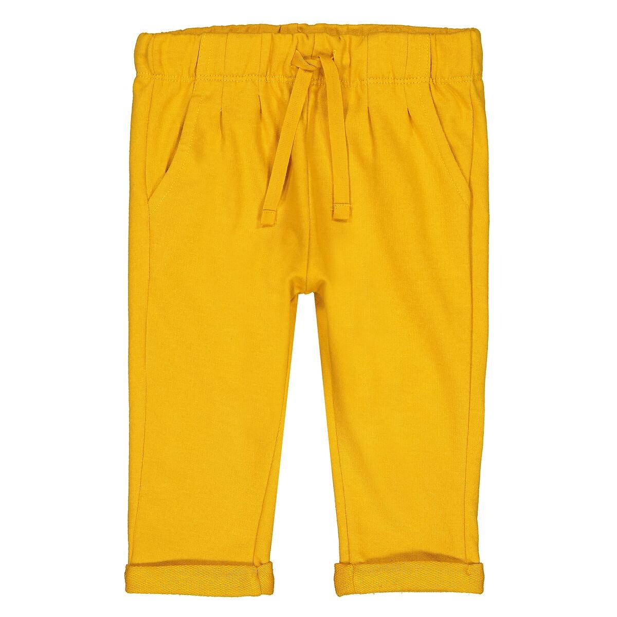 Фото - Брюки LaRedoute Из мольтона 1 мес - 3 года 18 мес. - 81 см желтый брюки laredoute из мольтона с бантом 1 мес 3 года 9 мес 71 см розовый