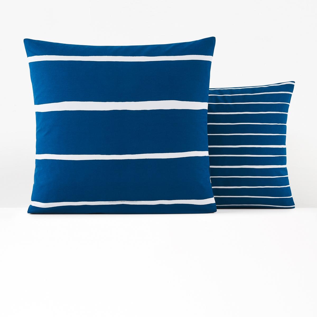 Наволочка La Redoute хлопок Glenans 50 x 70 см синий наволочка la redoute flooch 50 x 30 см бежевый