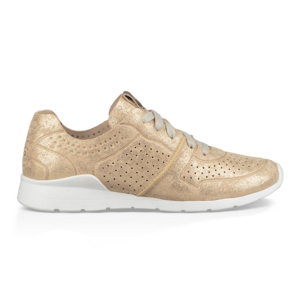 Imagen principal de producto de Zapatillas de piel con cordones y efecto dorado, Tye Stardust - UGG