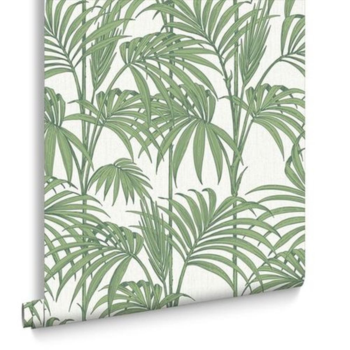 Julien Macdonald Papier Peint Support Intissé Honolulu Vinyle 1005 x 52 cm Vert & Blanc