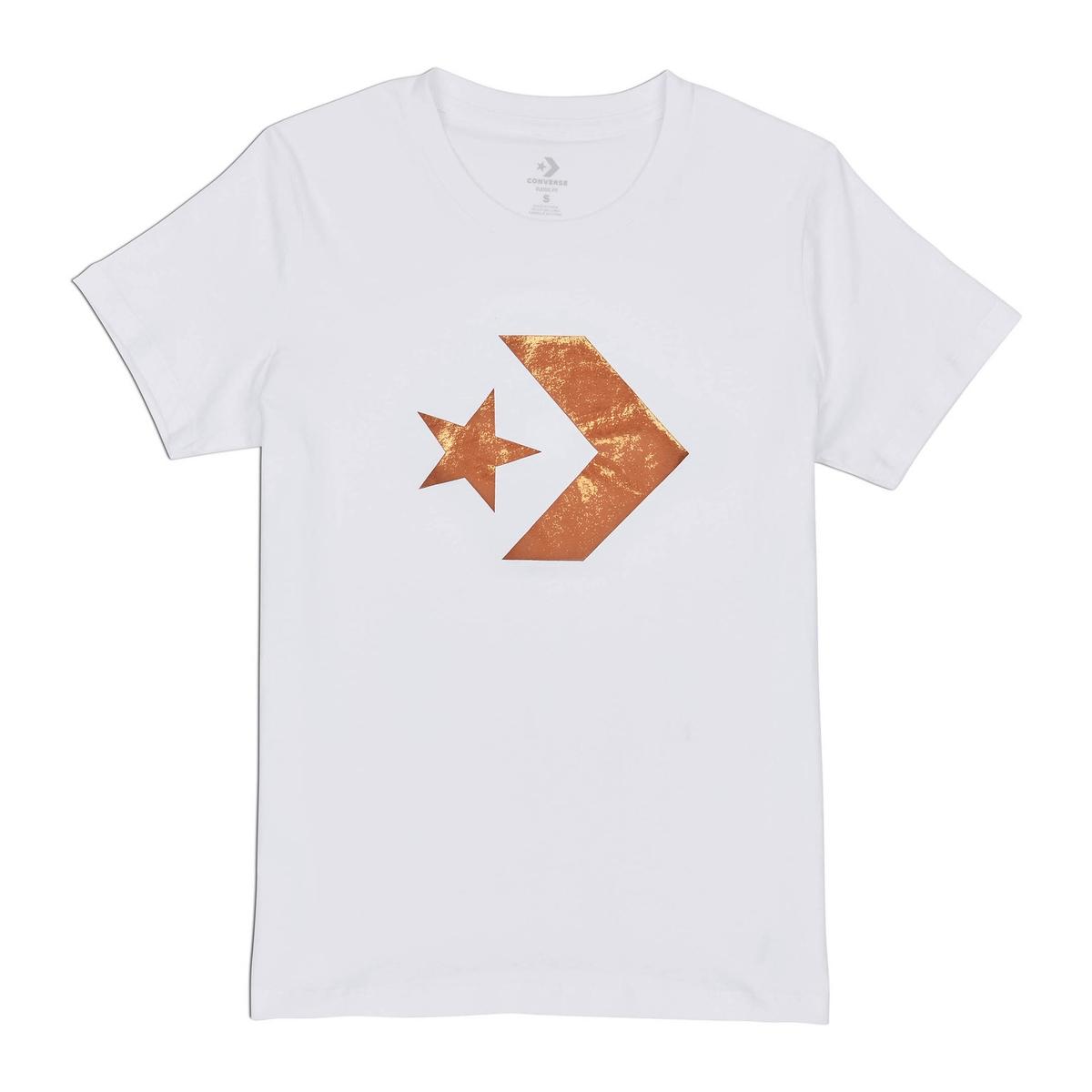 Camiseta con cuello redondo y estampado delante, de manga corta