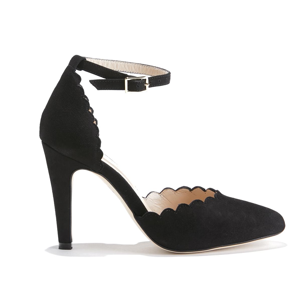 Туфли-лодочки кожаные на каблуке-шпильке BAMBINA