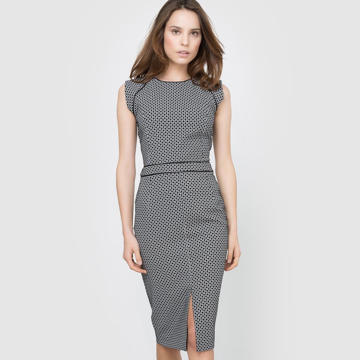 Платье 3 отверстия из жаккардовой ткани