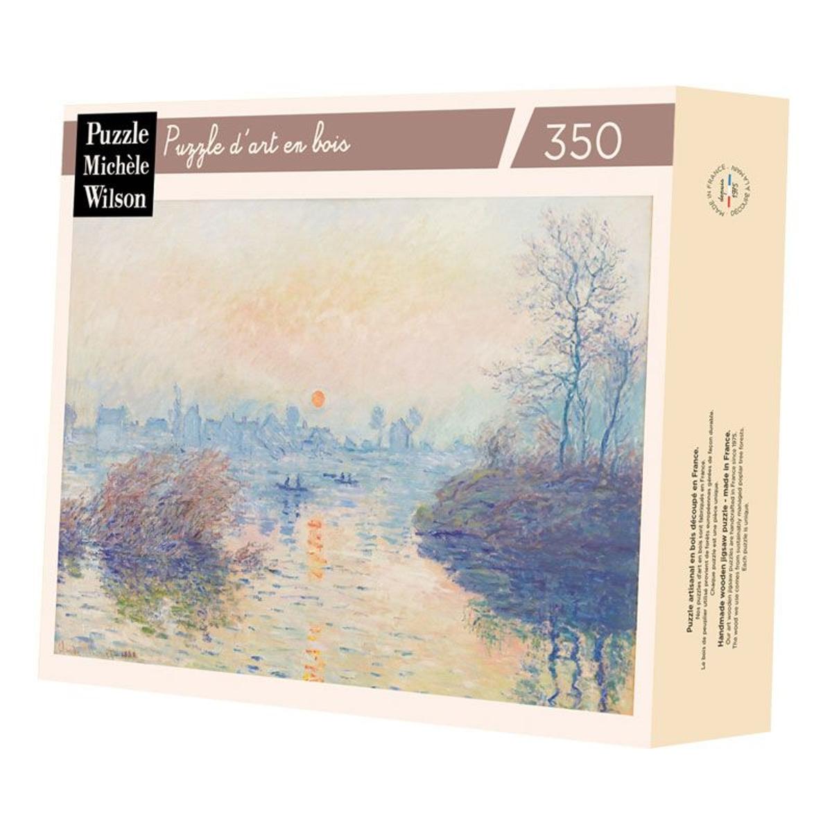 Soleil couchant à Lavacourt de Monet