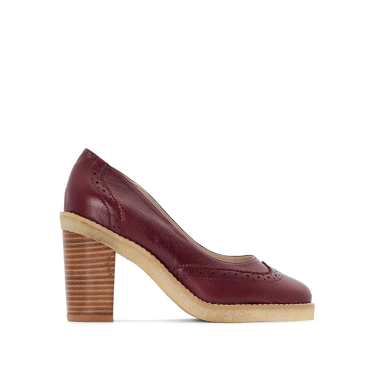Туфли кожаные на высоком каблуке цены онлайн