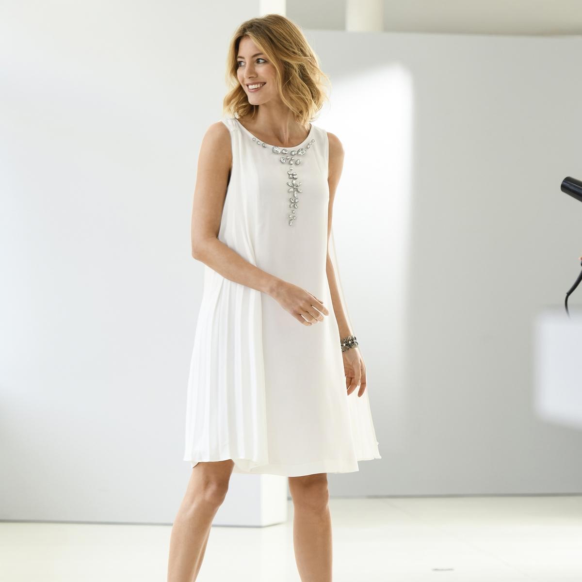 Imagen secundaria de producto de Vestido plisado, sin mangas - Anne weyburn