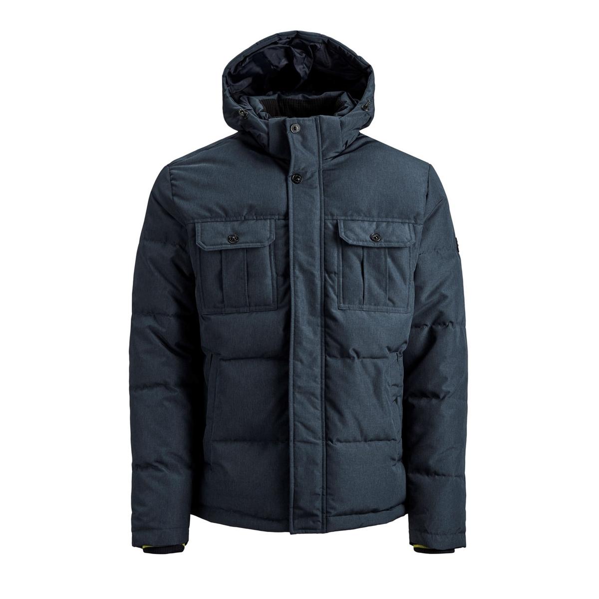 Куртка LaRedoute Стеганая утепленная с капюшоном Jcowill S синий куртка la redoute стеганая на молнии с капюшоном idaho 2 3xl синий