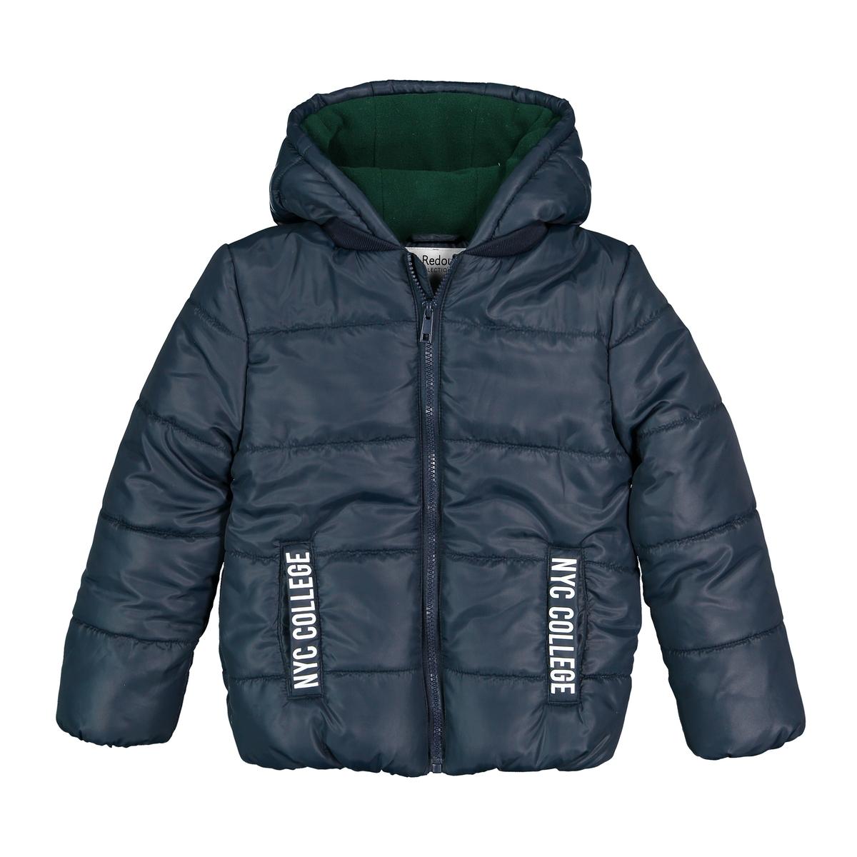 цена Куртка La Redoute Стеганая с капюшоном 3 года - 94 см синий онлайн в 2017 году