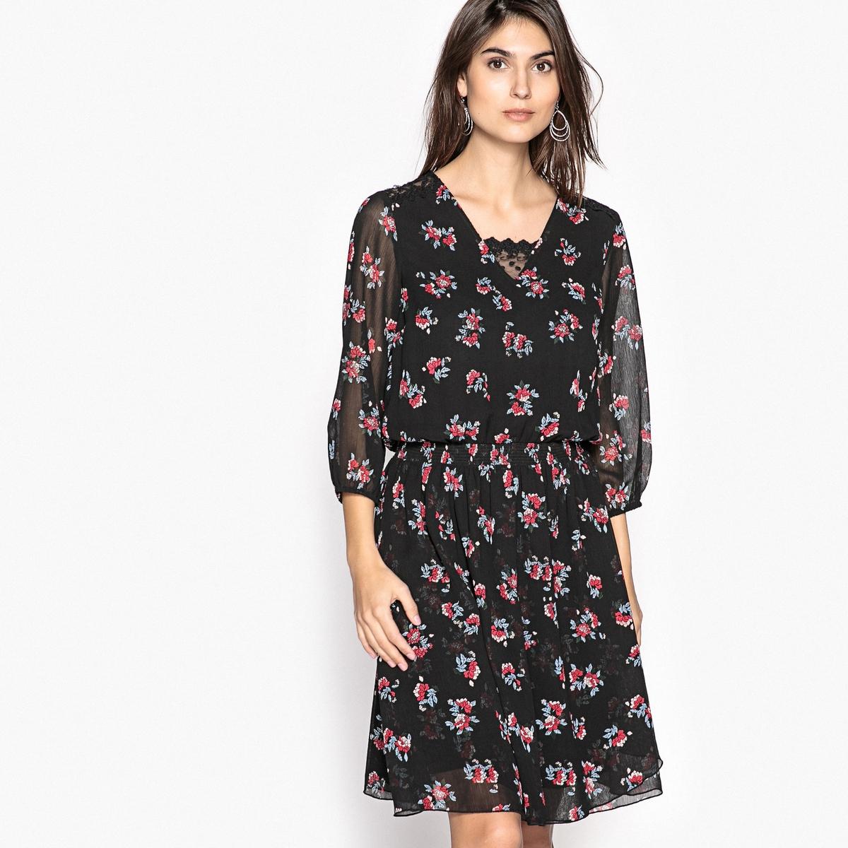 Платье расклешенное с рисунком из струящейся ткани платье из струящейся ткани 100% вискозы