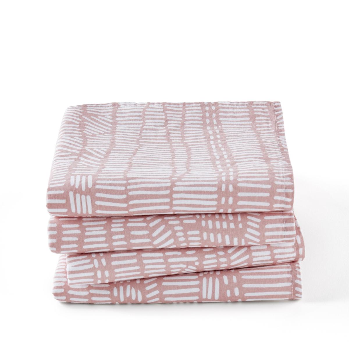 цена Комплект из салфеток из La Redoute Стираного хлопка Tamao 45 x 45 см розовый онлайн в 2017 году
