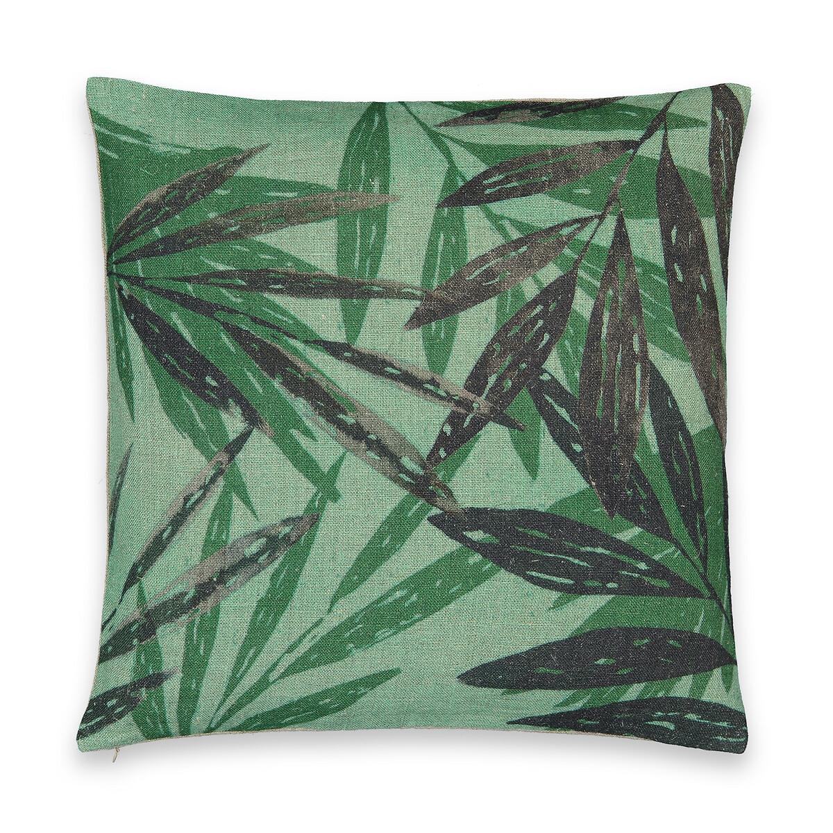 Чехол LaRedoute На подушку из льна Anagi 50 x 50 см зеленый