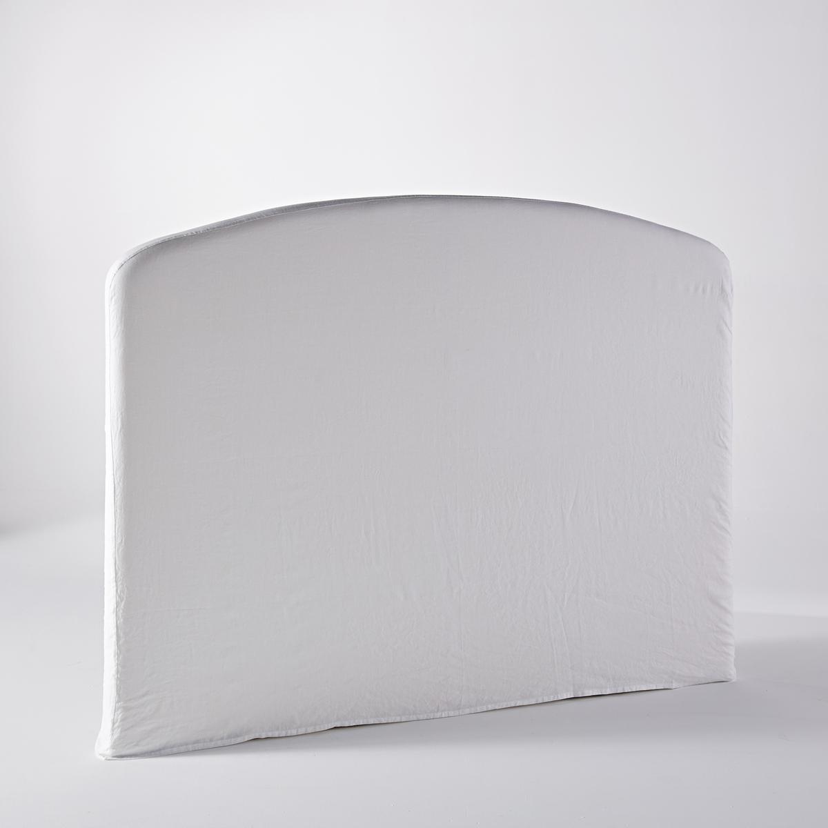 Чехол для изголовья кровати  VincentiusЧехол для изголовья кровати Vincentius, специально для изголовья кровати Vincentius, представленного на нашем сайте. Отделка плоским воланом, как на оригинальной и комфортной наволочке. Материал :- Из 100% плотного льна- Отделка плоским воланом 7,5 см- Сочетается с ящиком для хранения белья LIN?O, представленным на нашем сайте.Размеры :- 180 x 140 см<br><br>Цвет: белый,светло-синий