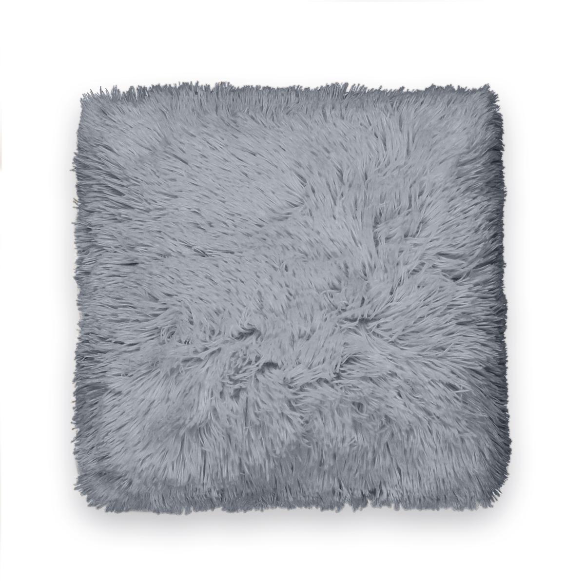 Чехол La Redoute Для подушки DOUDOUX 40 x 40 см серый льняной la redoute чехол для подушки georgette 50 x 30 см желтый