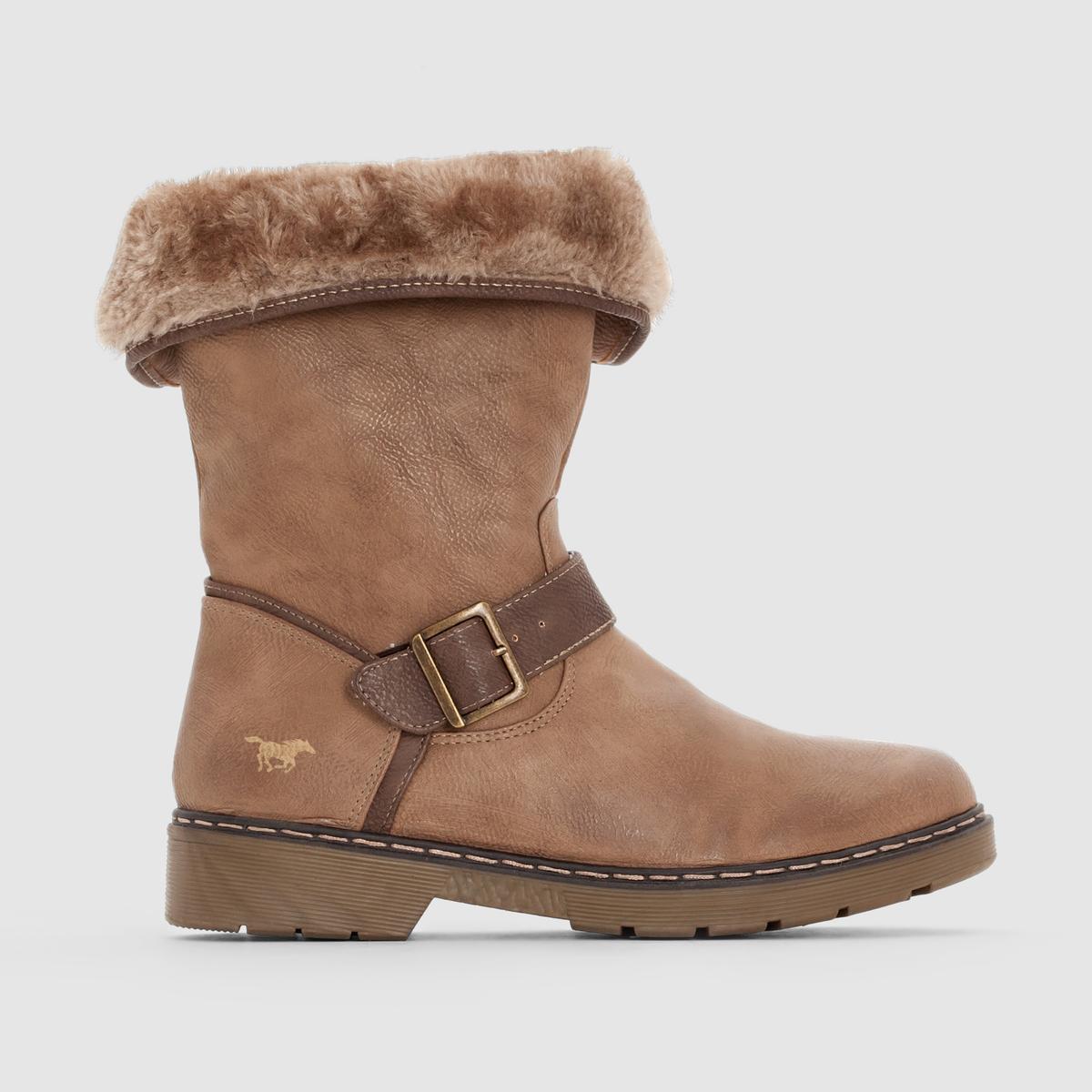 Ботильоны на каблуке 1199603Подкладка: хлопок  Стелька: хлопок Подошва: каучук. Высота каблука: 7 смВысота голенища: 8 см Форма каблука: среднийМысок: закругленныйЗастежка: на молнии<br><br>Цвет: серо-коричневый<br>Размер: 40