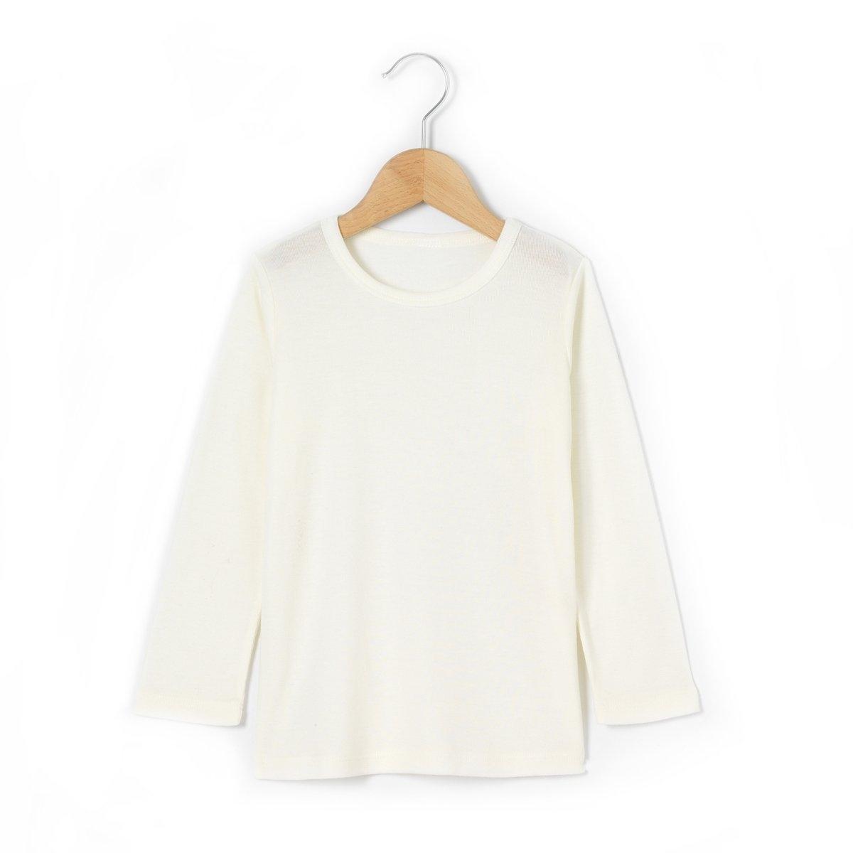 Теплая футболка с длинными рукавами, 2-12 летФутболка из специального теплого трикотажа, 85% вискозы, 15% шерсти. Длинные рукава. Круглый вырез.<br><br>Цвет: белый<br>Размер: 2 - 3 года (86 см - 94 см).4/5 лет - 102/108 см.6/8 лет -114/126 см
