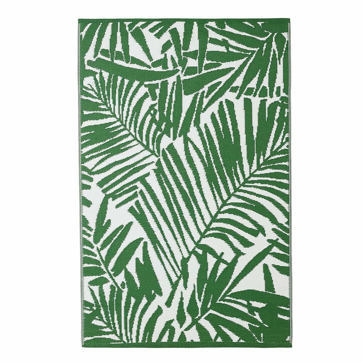 Ковер LaRedoute С рисунком из листьев пальмы IndoorOutdoor Catalpa 180 x 280 см зеленый