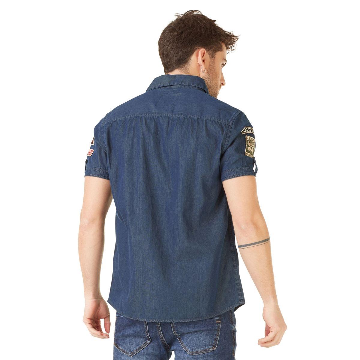 Chemise manches courtes homme Von Dutch Paul Bleu Foncé