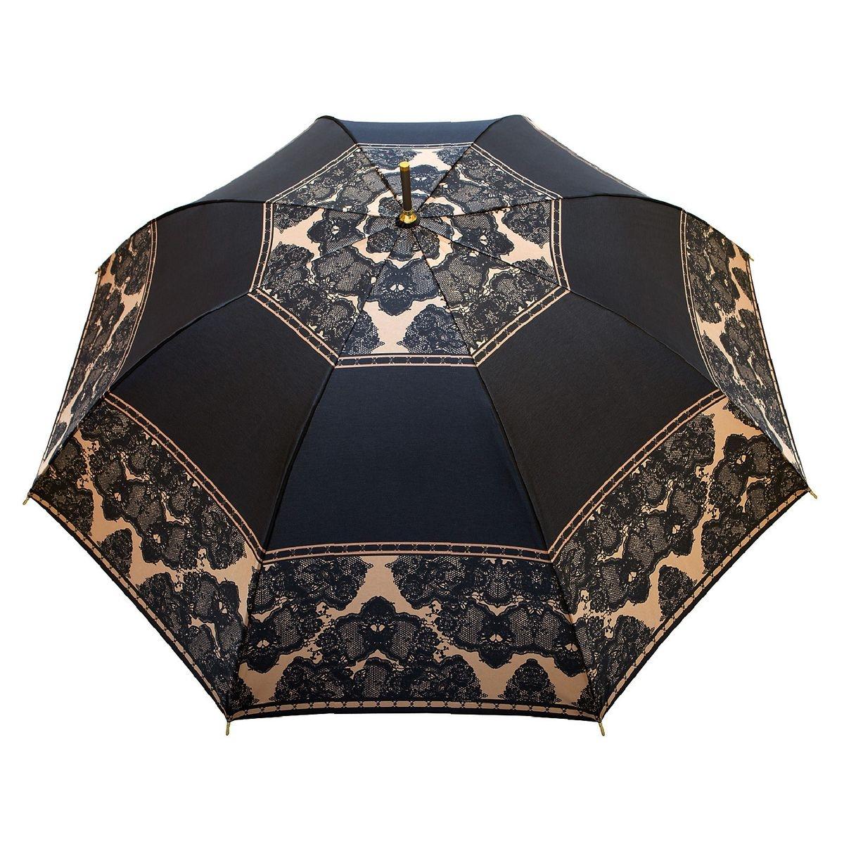 Parapluie droit Femme Dentellière Noir