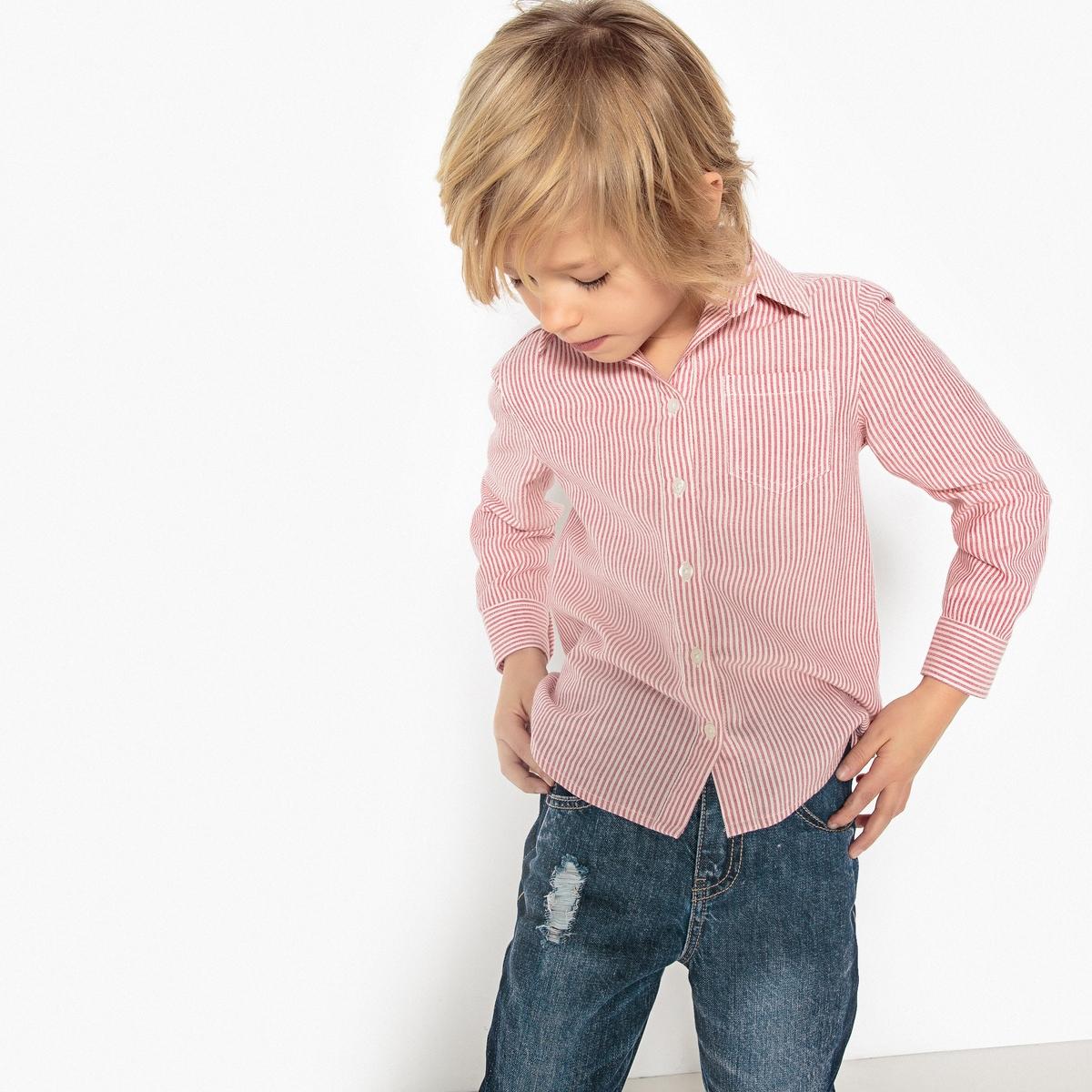 Рубашка в полоску, 3-12 лет