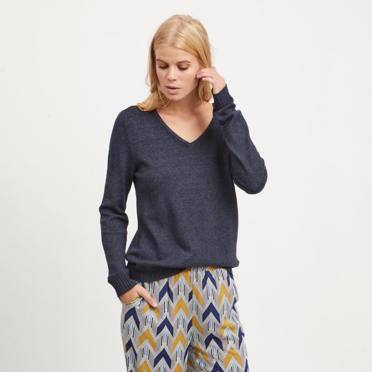 Пуловер La Redoute С V-образным вырезом из тонкого трикотажа XS синий пуловер la redoute с v образным вырезом из тонкого витого трикотажа m каштановый