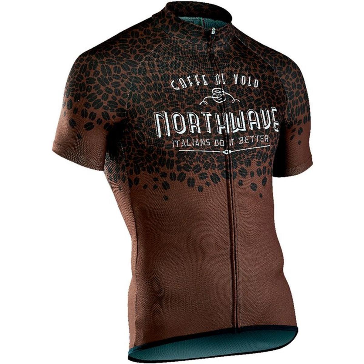 Caffealvolo - Maillot manches courtes Homme - marron