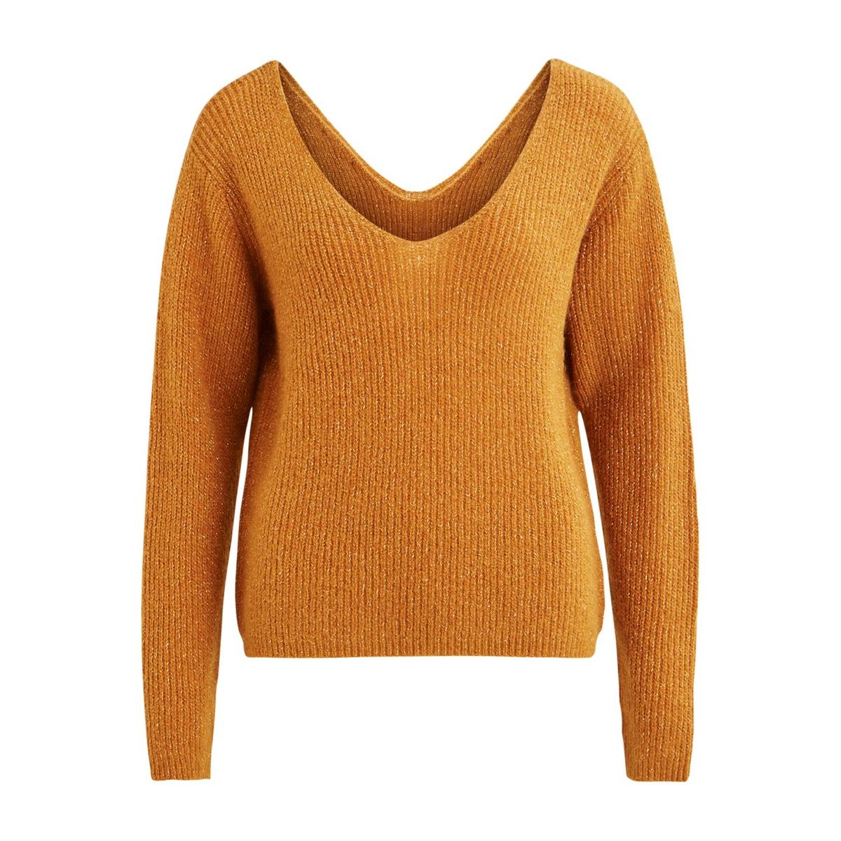 Пуловер с V-образным вырезом спереди и сзади VILA