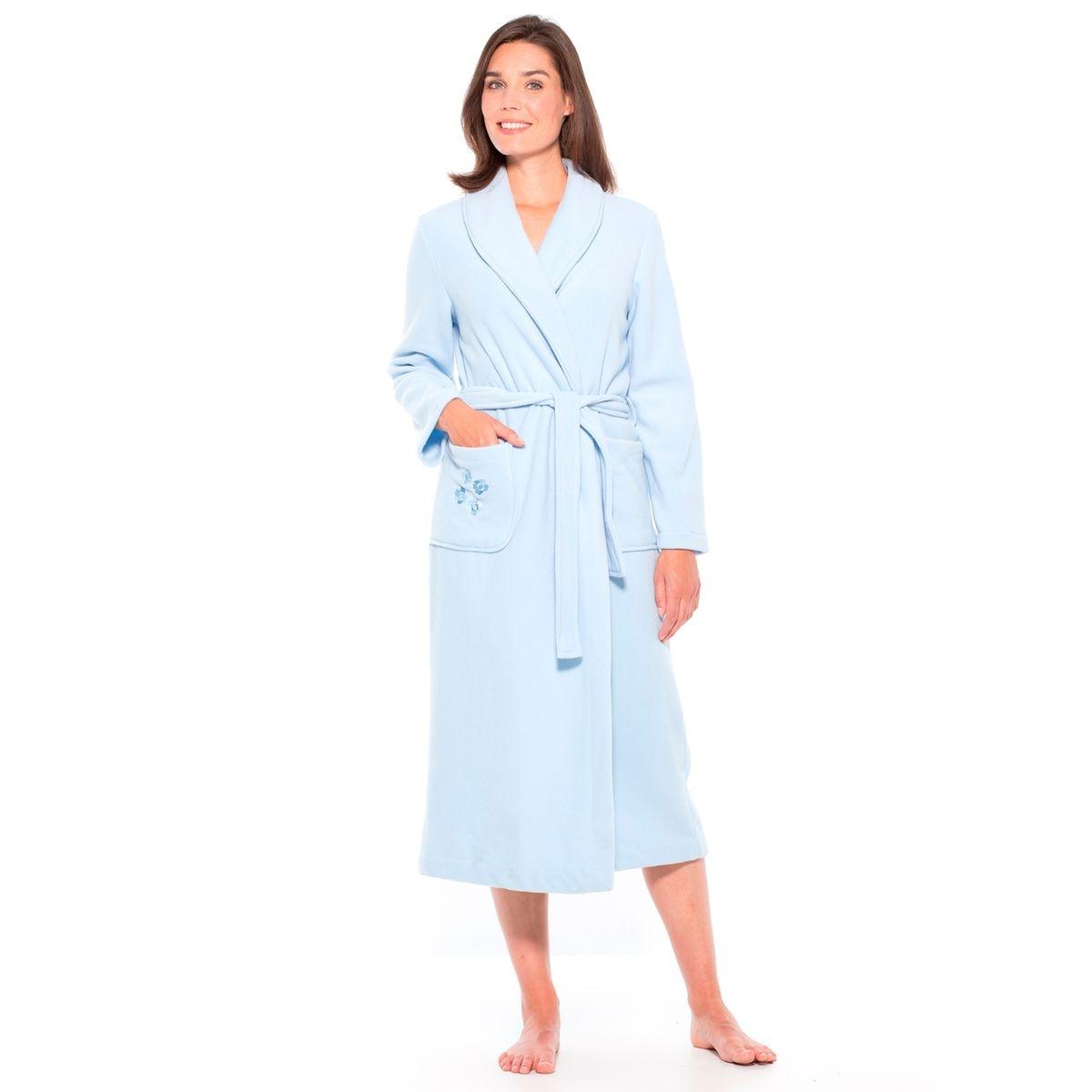 Robe de chambre col châle, longueur 125cm
