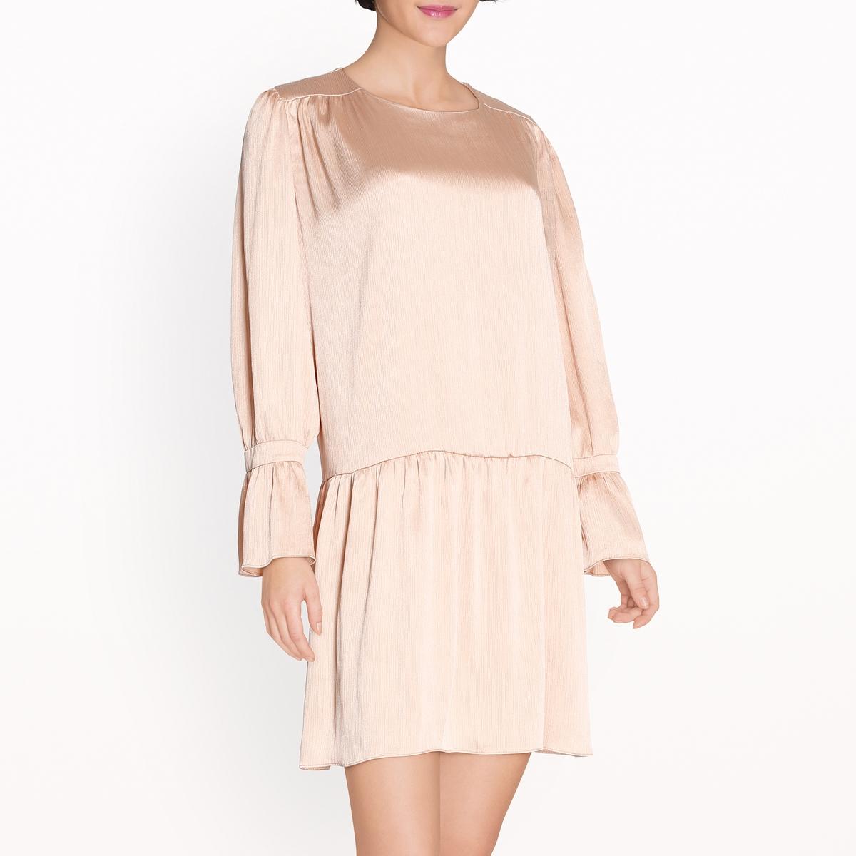 Платье объемное с воланамиСостав и описание :Основной материал  100% полиэстер Марка                     SISTER JANE<br><br>Цвет: телесный
