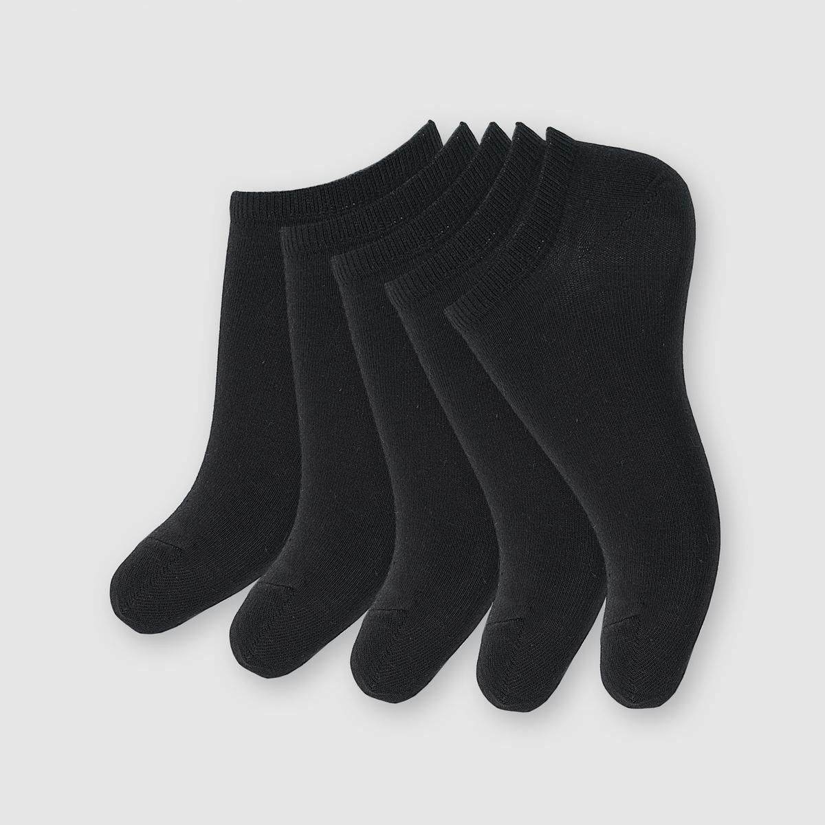 5 пар носковКомплект из 5 пар трикотажных носков с низкой манжетой. Укрепленные края в области лодыжки.Состав и описаниеМатериал: 77% хлопка, 22% полиамида, 1% эластана.Марка: R essentiel.Уход:Машинная стирка при 30° в защитном чехле.<br><br>Цвет: белый,черный<br>Размер: 35/37.38/41.35/37.38/41