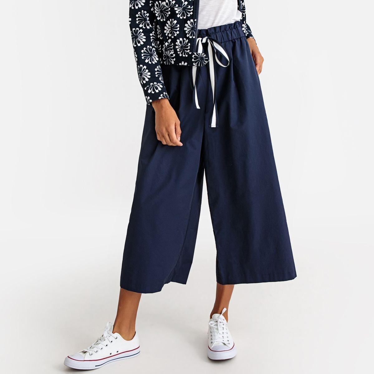 Pantalon large, cordon à la ceinture