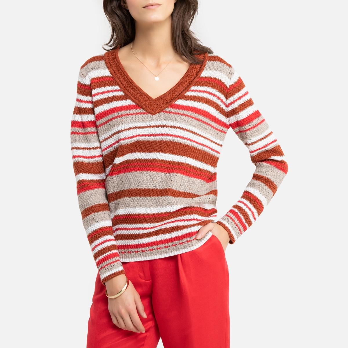 цена Пуловер La Redoute С V-образным вырезом из тонкого трикотажа 42/44 (FR) - 48/50 (RUS) другие онлайн в 2017 году