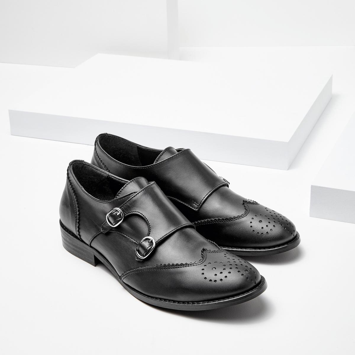 Ботинки-дерби кожаные с пряжками