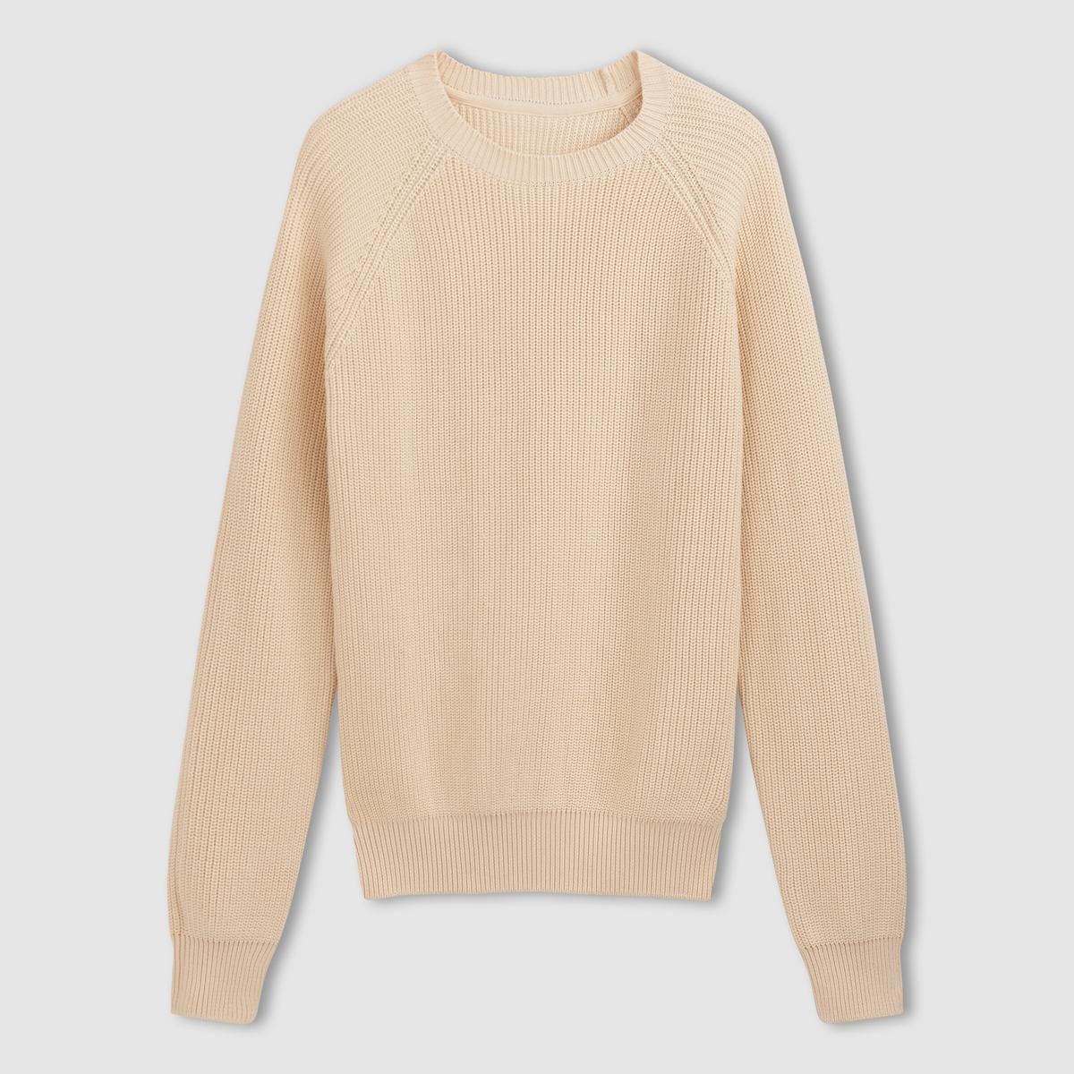 Пуловер из фантазийного трикотажа, 100% хлопка