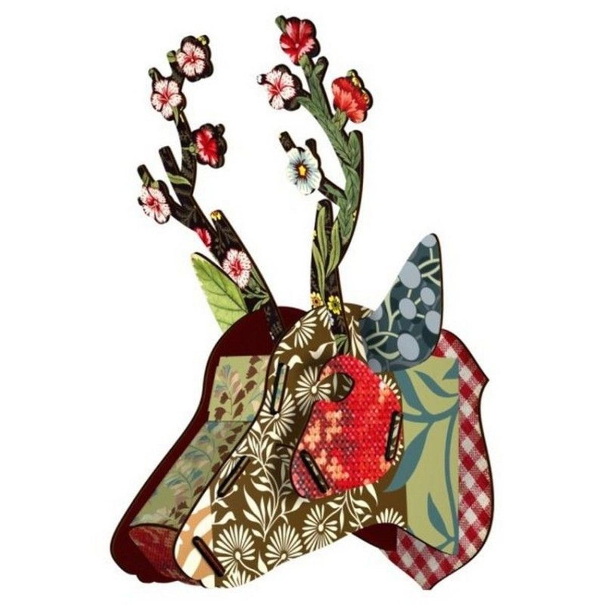 trophée cerf Roe Flower Blow-up