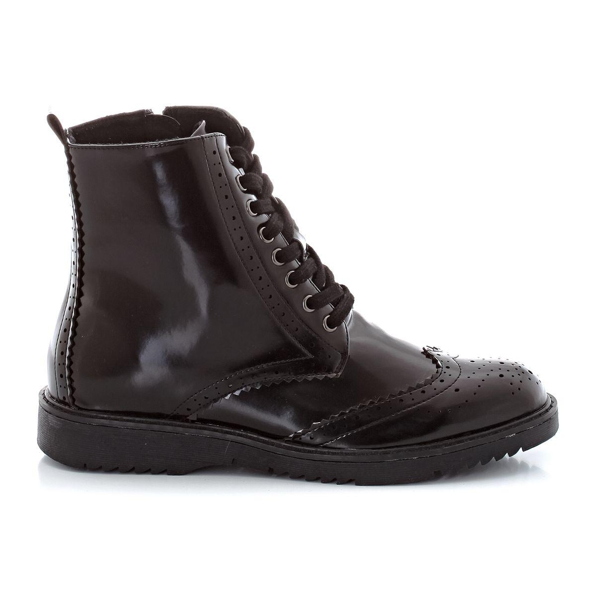 Boots vernies à lacet