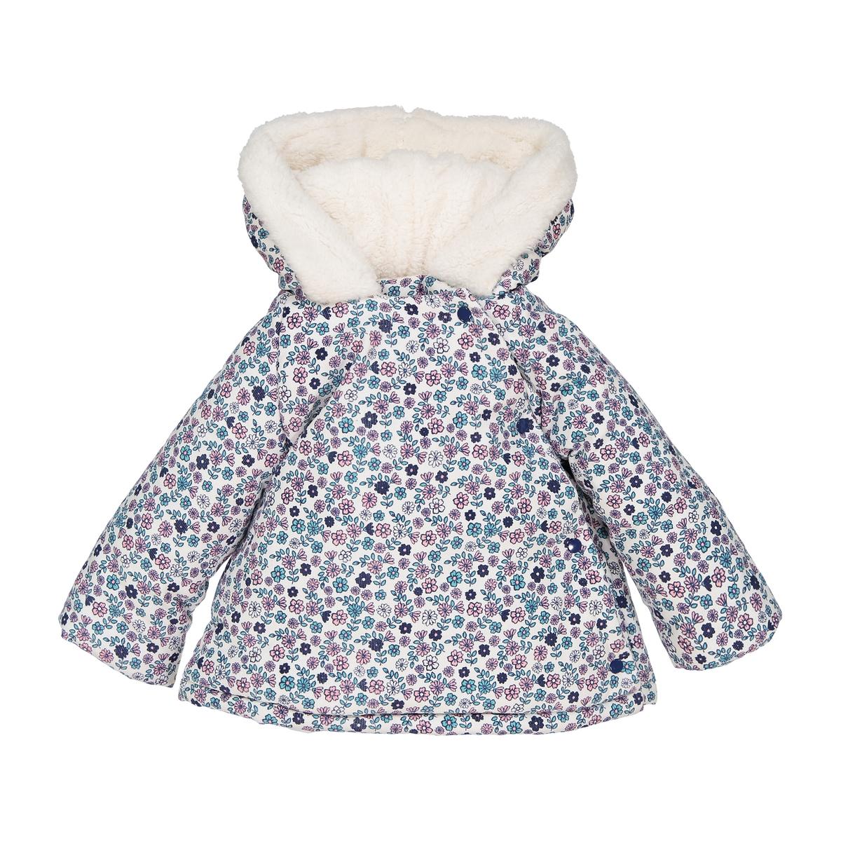 Куртка стеганая для новорожденного из велюра, 1 мес. - 3 года жакет из велюра на подкладке из искусственного меха