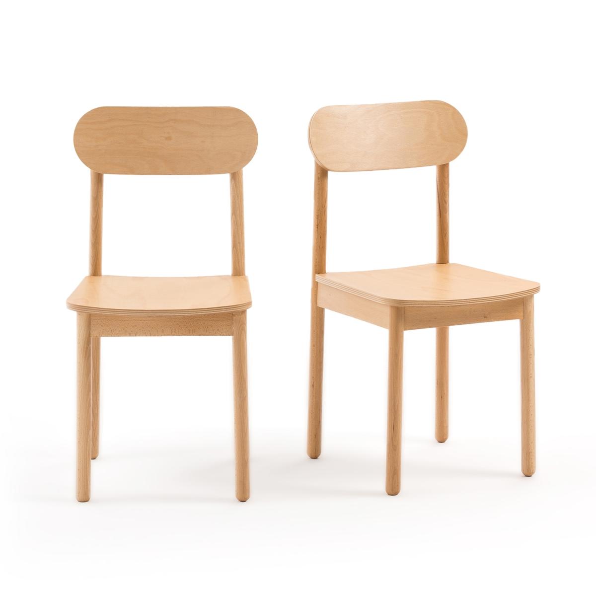Комплект из 2 стульев JIMI LaRedoute La Redoute единый размер бежевый кресло la redoute обеденное jimi единый размер серый