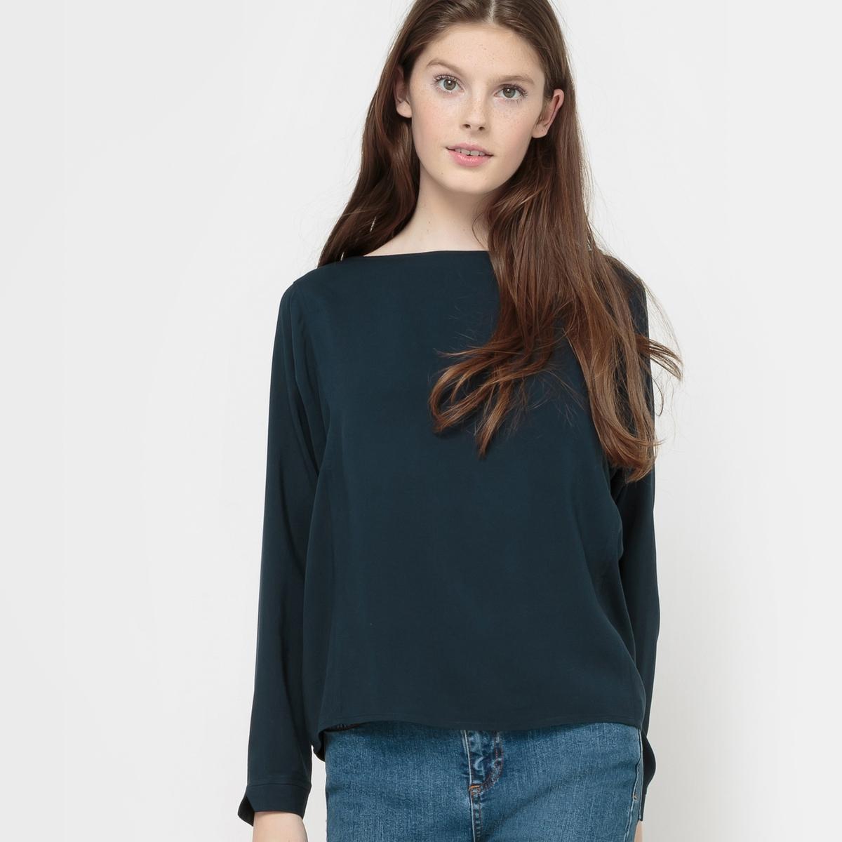 Блузка из вискозы с длинными рукавами
