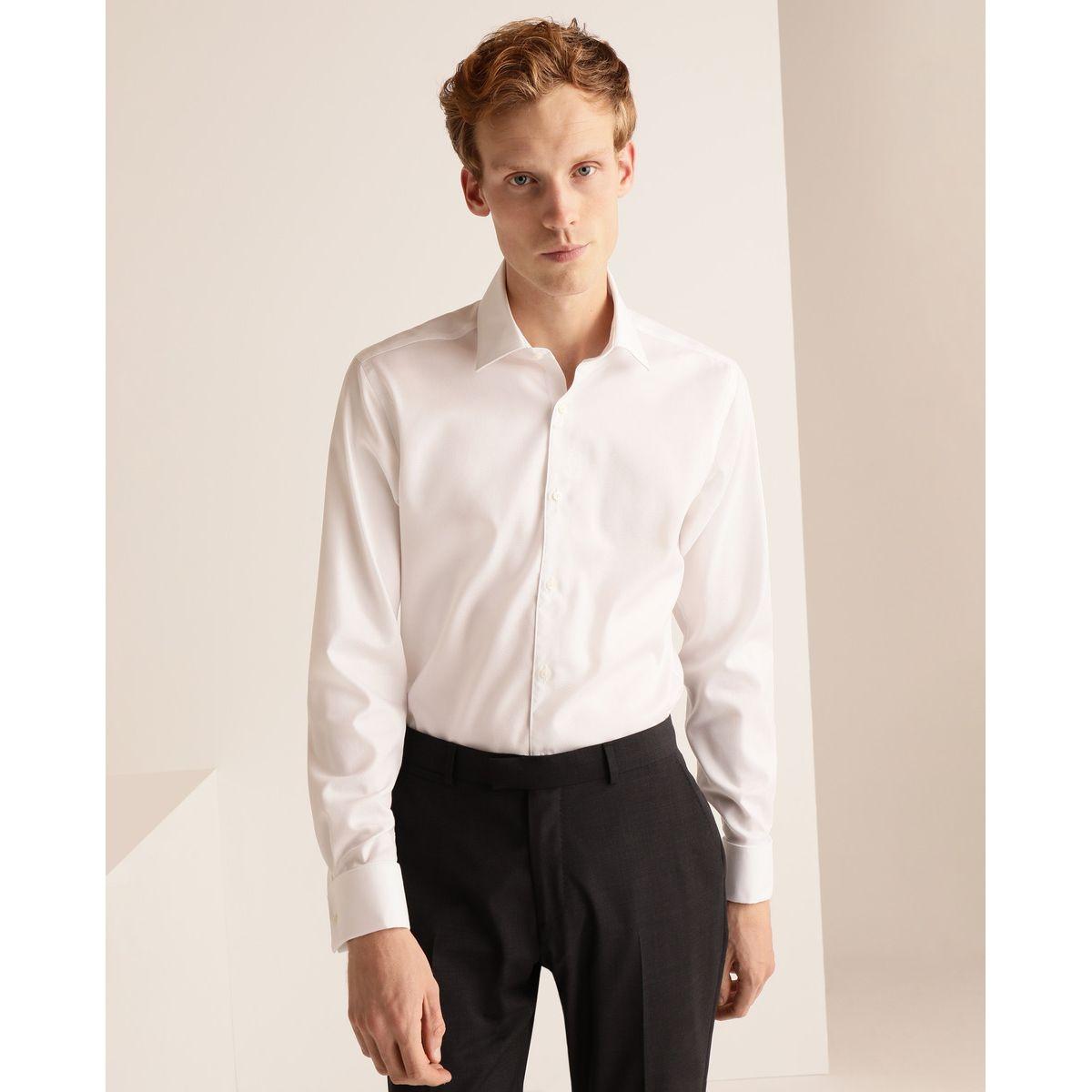 Chemise slim habillée sans repassage unie