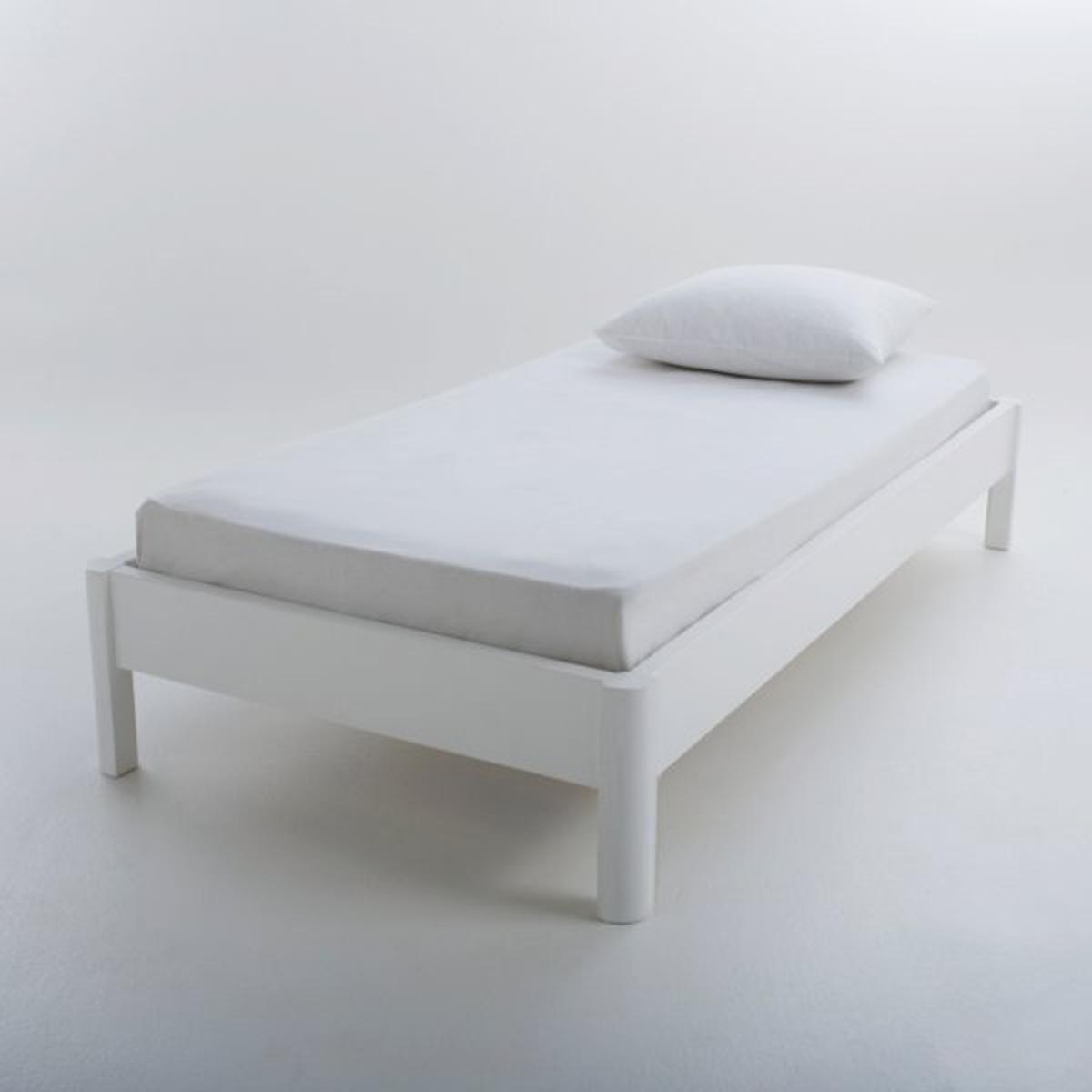 Кровать La Redoute Из массива сосны с кроватным основанием Zulda 90 x 190 см белый