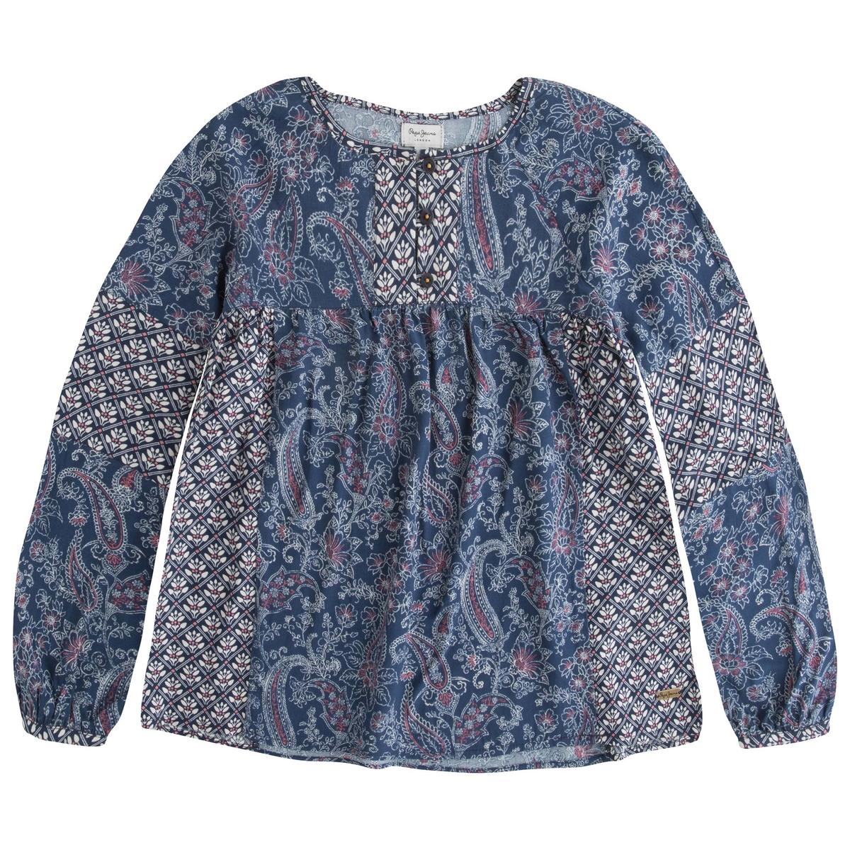 Блузка с цветочным принтом 8-16 лет
