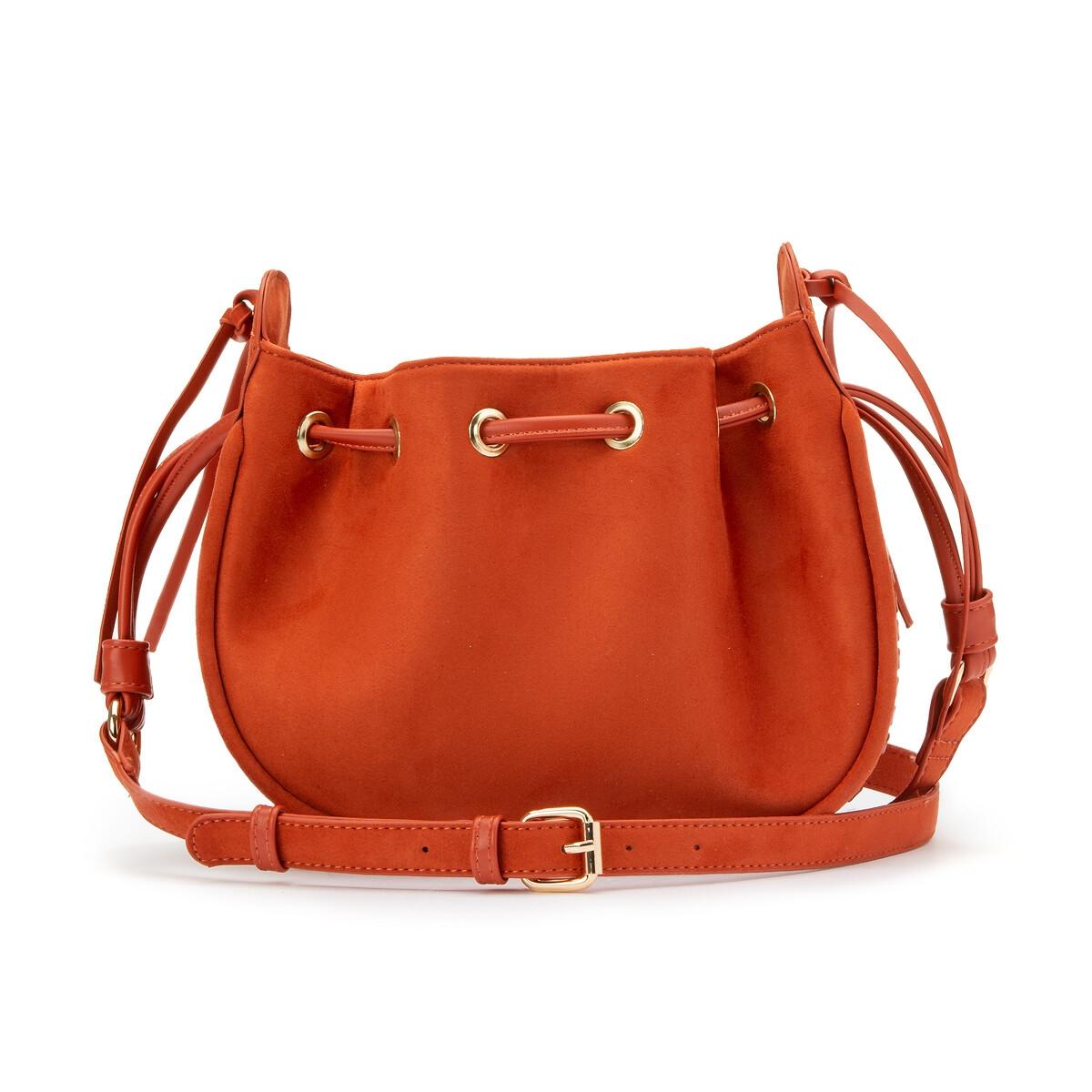 Сумка La Redoute Кожаная единый размер каштановый сумка la redoute кожаная sunny foil единый размер синий
