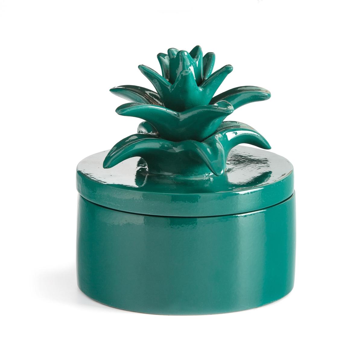 Банка La Redoute С крышкой в форме ананаса из керамики LOUPIA единый размер зеленый доска la redoute разделочная в форме ананаса единый размер каштановый