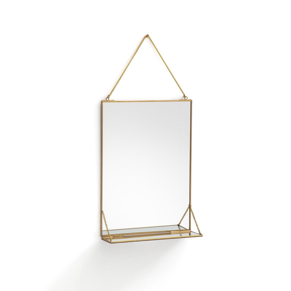 Зеркало La Redoute Прямоугольное с полкой Uyova единый размер желтый зеркало la redoute прямоугольное д x в см barbier единый размер другие