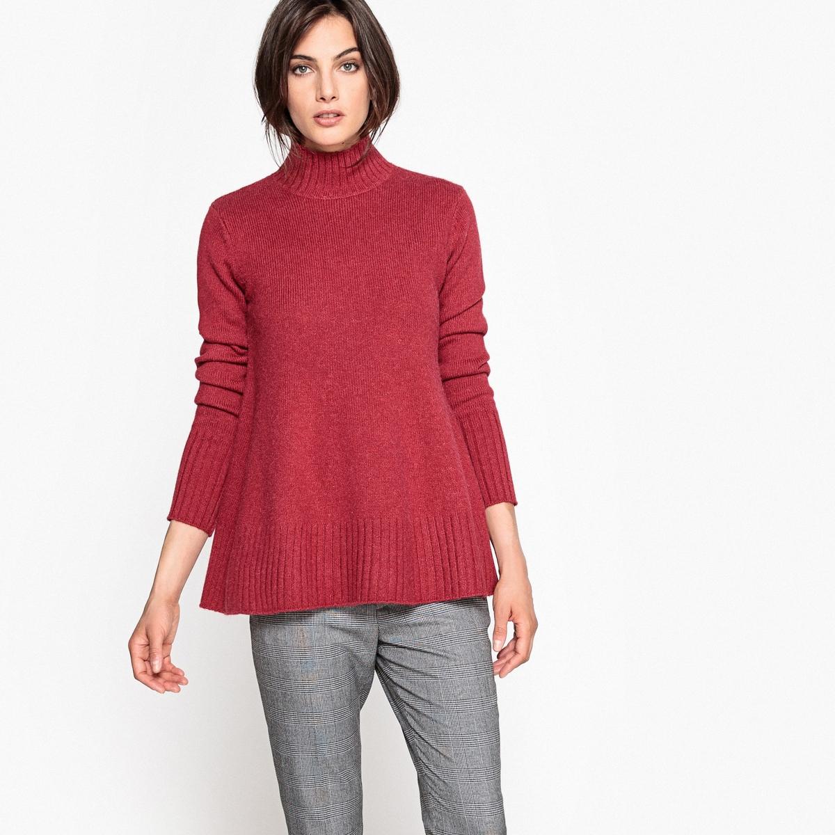 Пуловер-туника из шерсти и альпаки
