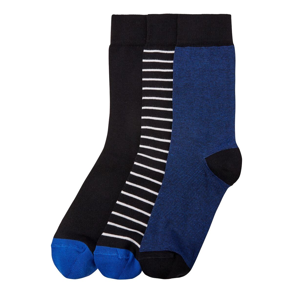 Комплект из 3 пар носков LaRedoute La Redoute 35/38 синий комплект из 6 пар носков la redoute la redoute 39 45 черный