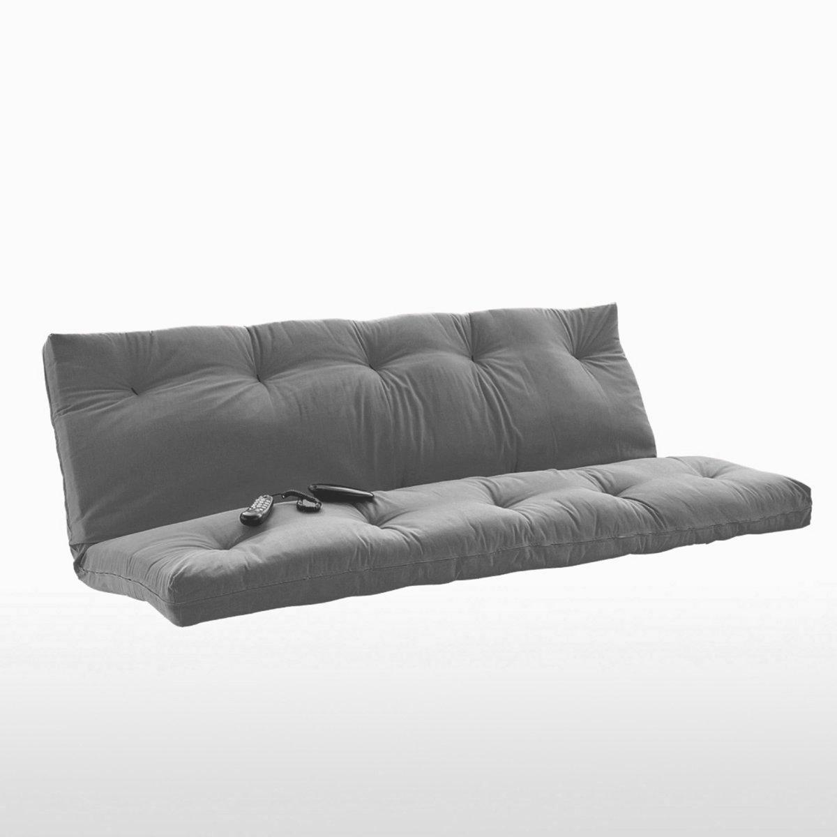 Матрас-футон LaRedoute La Redoute 140 x 190 см серый кровать la redoute детская с покрытием дубовым шпоном drakar 70 x 140 см каштановый